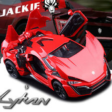 Lykan Hypersport Model Cars 1:32 Alloy Diecast Toys Sound & Light Gifts New Red