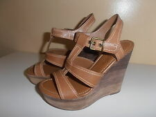 FERGIE SHOES  SIZE 6.5 LIGHT BROWN NICE & CHEAP!