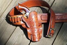 Redoog Leather, Cowboy Western Holster & Belt, ME French rig! FREE SHIPPING!