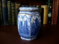 Vintage Blue & White Ringtons / Wade Cathedrals Hexagonal Tea Caddy
