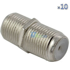 10X F Type Female to Female RG6 F81 3GHz Coaxial Barrel Coax Coupler Adapter New