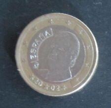 1 Euro Münze Spanien Prägejahr 2002 aus Umlauf Sammlerstück!