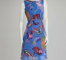 NWT Authentic Voir Voir  Chiffon Butterfly Belted Dress, 18