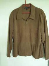 "Pretty Women's ""Brigs New York""  brown Jacket - Size 24W"