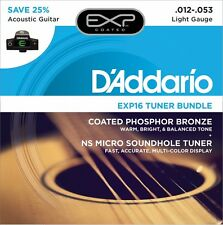 D'Addario EXP16 Tuner Bundle; One Soundhole Tuner + 1 set EXP16 Strings 12-53