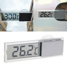 Transparent Digital LCD Auto Car Windscreen Temperature Thermometer Suction Cup