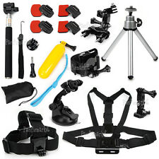 28in1 Accessories Pack Chest Head Monopod Roll Bar Mount for GoPro Hero 4 3+ 3