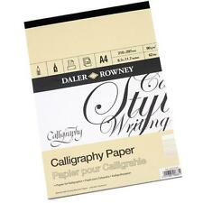 A4 DALER ROWNEY 90gsm CALLIGRAPHY PARCHMENT PAD CERTIFICATE PAPER ACID FREE