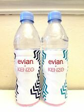 NEW Rare KENZO & EVIAN Special Limited Edition Collectable Bottled Water x 2