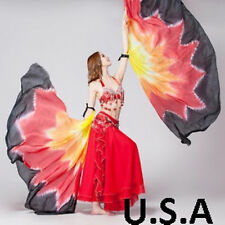 Belly Dance Silk Wings Isis Fans Veils  Quick Shipping   USA    *FREE Gift*
