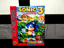 Sega Genesis SONIC THE HEDGEHOG 3 Box Cover  Photo Wall Poster Decor