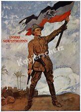 Heilemann Deutsch-Ostafrika Schutztruppe Kolonialkrieg Reichsfahne Askari 1918!!