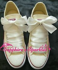 Bridal Wedding Ivory Pearl Cream Converse 3 4 5 6 7 8 9