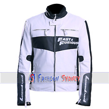 VIn Diesel Fast and Furious 7 Premier Black and White Faux Leather Jacket