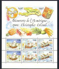 Mónaco 1992 Columbus/Veleros/transporte/exploración/Náutica 6v Sht n33763