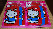 Sanrio Hello Kitty Childrens Reusable Folding Drink Pouch Bottles 7.5 fl oz R/B