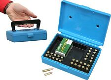 MTM Flip Top Match Ammo Box with Handle 22 Long Rifle 30 Round Blue SB-22-20