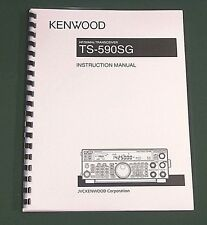 Kenwood TS-590SG Instruction Manual - Premium Card Stock Covers & 32 lb Paper!