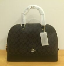 COACH F37233 Signature Sierra Brown / Black CrossBody Satchel Bag NWT