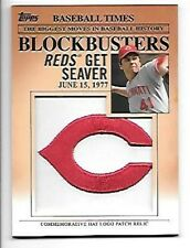 TOM SEAVER   2012 TOPPS UPDATE BLOCKBUSTERS HAT LOGO PATCH #BP-12