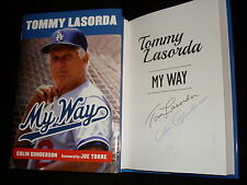 Los Angeles Dodgers Tommy Lasorda signed My Way HC book also signed by author
