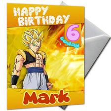 Dragon Ball-Personalizado Cumpleaños Tarjeta de gran formato A5 + Sobres