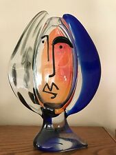 Museum quality Picasso inspired authentic Murano glass vase sculpture