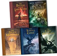 Percy Jackson and the Olympians Collection Rick Riordan 5 Books Series Set New