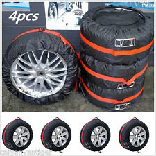 "4×Car Seasonal Spare Tyre Tire Protection Cover 13""-19"" Carry Tote Storage Bags"
