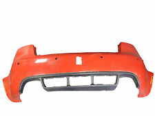 *AUDI RS4 B7 SALOON 2005-2008 RED REAR BUMPER W/ PARKING SENSOR HOLES + VALANCE