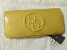 GUESS NEW WITH TAGS AUTHENTIC  SUN YELLOW BIFOLD WALLET
