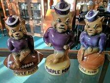 Kansas State Willie Wildcat Decanter Complete Set Football Basketball Walking