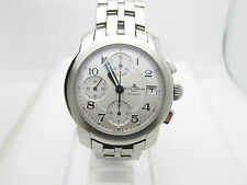 MINT BAUME & MERCIER CAPELAND CHRONOGRAPH AUTOMATIC SWISS WATCH + WARRANTY