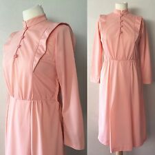True Vintage Late 60's/early 70's Pink Retro Mod Style Dress