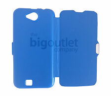 Funda Azul Claro Libro Tapa Flip Cover Cierre Iman For BQ Aquaris 5 Blue Case
