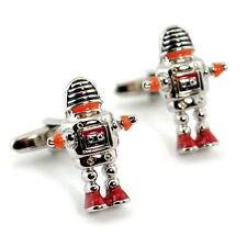 ROBOT CUFFLINKS Pair Lost in Space NEW w GIFT BAG Enamel Rhodium HIGH QUALITY