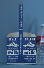OLD SNOW PEAK DAIRY LINN CO, PAPER 1/2 GAL MILK HOLDER, *ON SALE* FREE SHIP AD9