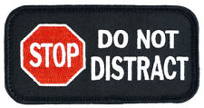 "STOP DO NOT DISTRACT w/Hook Side SD-010V Service Dog Patch 4"" X 2"" FREE SHIPPING"