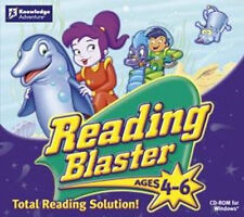 READING BLASTER Ages 4-6  XP Vista 7 8  Spelling Phonics and More  Brand New