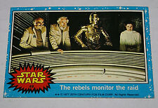 Topps Star Wars Card Trader 1977 CARREY FISHER #49 The rebels monitor raid OOP