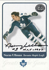 Norm Ullman Leafs Hall of Fame HOF SIGNED CARD AUTOGRAPHED