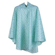 totes Fabric Poncho with Pocket Blue Small Painted Dots