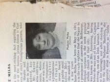 m5-1b ephemera 1905 small article madame melba