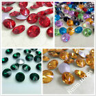 8mm Various Color Rivoli Shape Point back Rhinestones Glass Made Chaton 100ps
