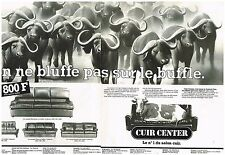 Publicité Advertising 1982 (2 pages) Les Canapés Cuir Center