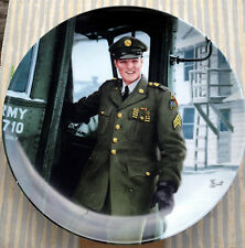 Elvis Remembered Collector's Plate ~ Homecoming - Sergeant Elvis Presley