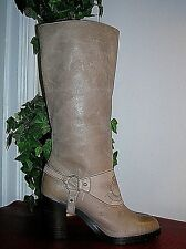 new Ralph Lauren Delsa Taupe Burnished Leather Ridding Boot Womens Size 7B new
