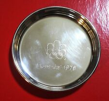 1976 OLYMPIC GAMES MONTREAL CANADA Original BRASS COASTER with Olympic Logo