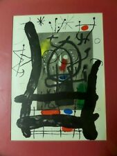 Miro Derierre le Miroir # 151-152 page 25,French original rare lithograph framed