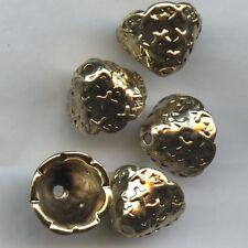 502205*** 8 calottes cône zamak DORE PATINE 14x9mm fabrication italienne *** x8